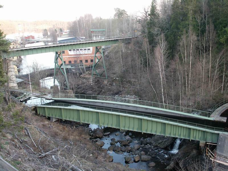 Pont canal à Håverud