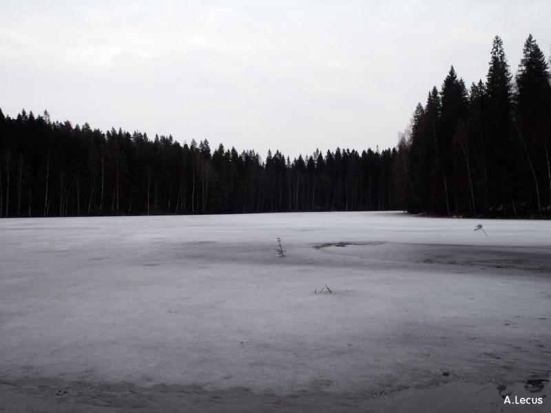 Lac gelé.