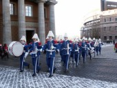 Brass band in winter.